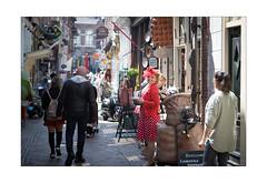 IMG_7557_ra (froetter) Tags: holland alkmaar street red dress rot kleid