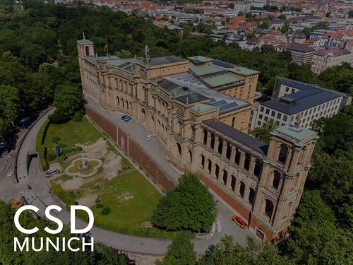 """Stiftung Maximilianeum als Hintergrundbild für den Bildtitel """"CSD Munich"""", um den Christopher-Street-Day in München für die LGBTQ-Community zu feiern"""