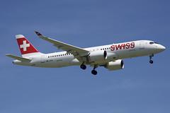 Swiss Bombardier CSeries CS300; HB-JCH@ZRH;24.06.2019 (Aero Icarus) Tags: zrh zürichkloten zürichflughafen zurichairport lszh plane avion aircraft flugzeug
