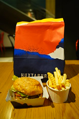 Huxtaburger AUD10.50, small chips AUD3.50 - Huxtaburger, Flinders Lane, Melbourne (avlxyz) Tags: burger hamburger beef chips crinklecut
