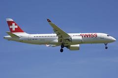 Swiss Bombardier CSeries CS300; HB-JCC@ZRH;24.06.2019 (Aero Icarus) Tags: zrh zürichkloten zürichflughafen zurichairport lszh plane avion aircraft flugzeug