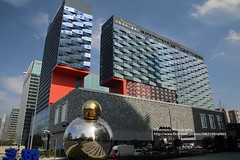 Chengdu, Marriot Hotel (blauepics) Tags: china sichuan province provinz chengdu buildings gebäude house haus architecture architektur modern chinesische chinese facade fassade shiny glänzend stylish art kunst sky himmel marriot hotel city stadt