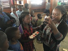 Samantha at the Model Library 7/11/19 (Lubuto Library Partners) Tags: lubutolibrarypartners lubutolibraries publiclibraries lubuto library zambia africa children youth ovc art science colors scientificmethod stem primarycolors