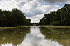 Photo of View across the long water towards Archer Pavilion at Wrest Park