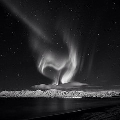 Heart of northern lights (frodi brinks photography) Tags: iceland island blackandwhite aurora northernlight northernlights frodibrinks