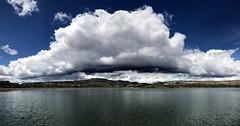 Monster cloud (__ PeterCH51 __) Tags: cloud sky giantcloud monstercloud skyglory widehollowreservoir escalante utah usa america amerika scenery landscape lake iphone peterch51 pano panorama