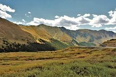 Love-land (Jan Nagalski) Tags: mountain scenery landscape treeline alpinezone mountainscape clouds car shrubs rockymountains lovelandpass colorado jannagalski jannagal