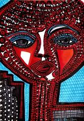 Dibujos expresivos artista contemporanea Mirit Ben-Nun (female art work) Tags: pincel simbolos zentangle art zangle puntillismo acrilico estilo boceto volumen expresivo galeria israelita israel judia etnicos coleccion moderno figura detallista contraste museo lienzo arte retrato pintora armonia colores ornamento puntos dibujos multicolor autoretrato pigmentos mandala imagen detalles contemporaneo artistico impresionismo figurativo canvas realismo estatua
