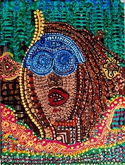 Pintura multicolor moderna en acrilico (female art work) Tags: pincel simbolos zentangle art zangle puntillismo acrilico estilo boceto volumen expresivo galeria israelita israel judia etnicos coleccion moderno figura detallista contraste museo lienzo arte retrato pintora armonia colores ornamento puntos dibujos multicolor autoretrato pigmentos mandala imagen detalles contemporaneo artistico impresionismo figurativo canvas realismo estatua