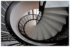 around (frodul) Tags: architektur detail gebäude geländer gestaltung innenansicht konstruktion kurve linie stair staircase stairrail stairway step treppe berlin stufe treppenhaus spirale spiral
