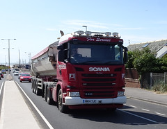 MK14YJC Armstrong's Scania G410 climbs Squires Gate Lane in Blackpool (j.a.sanderson) Tags: mk14yjc armstrongs scania g410 climbs squires gate lane blackpool scaniag410 squiresgatelane truck trucks wagon