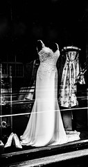 Wedding dress and shoes, Edinburgh
