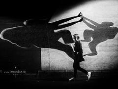 Women in black (Sandy...J) Tags: street streetphotography sw schwarzweis strasenfotografie stadt shadow deutschland darkness light licht germany grafitti walking wall women city contrast monochrom blackwhite bw tunnel noir olympus urban underpass photography fotografie atmosphere atmosphäre mood monochrome