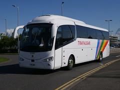 Fairline Coaches of Glasgow Scania K410EB4 Irizar i6 F11LNE, new as YN17ONX, in Trafalgar Tours livery, at Edinburgh Airport on 10 June 2019. (Robin Dickson 1) Tags: busesedinburgh trafalgartours f11lne scaniak410eb4 irizari6 craigofcampbeltown westcoastmotors fairlinecoaches yn17onx