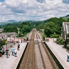 06240026_24 lum (Douglas Jarvis) Tags: film settle om1 olympus kodak portra 160 yorkshire train railway