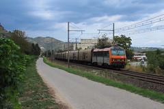 Sale temps pour le Frigo (railmax07) Tags: train ferroviaire fret sncf bb26000 beton frigo bananier rungis valenton perpignan tournon