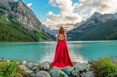 Nature's Siren (Christy Turner Photography) Tags: model albertamodels morainelake nature lakes mountains