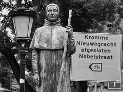 St Willibrord (GiulioBig) Tags: arte scultura stile blackwhite lombok utrecht netherlands