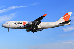 Magma Aviation (Air Atlanta Icelandic)  Boeing 747-412(BCF) TF-AMI (widebodies) Tags: liege lüttich lgg eblg widebody widebodies plane aircraft flughafen airport flugzeug flugzeugbilder magma aviation air atlanta icelandic boeing 747412bcf tfami