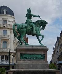 Statue of Joan of Arc, Mur des Canuts Lyon (Dave Hamster) Tags: orléans france statueofjoanofarc statue joanofarc sculpture mounted jeannedarc murdescanutslyon