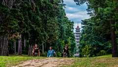 The Pagoda (Peter Leigh50) Tags: pagoda kew garden gardens path people trees sky building fujifilm fuji xt2 grass