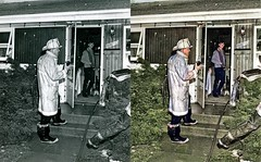 Fire Chief Hulett at His Last Fire (Oak Lawn Public Library) Tags: oak lawn local history fire department disasters