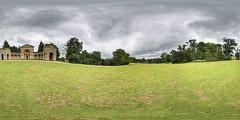 Stowe Gardens - Temple of Venus (Terrycym) Tags: buckinghamshire nationaltrust templeofvenus stowe gardens 360 panorama aylesburyvale williamkent elevenacrelake meadow england vr