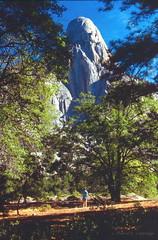 Looking up at Tehipite Dome (Chief Bwana) Tags: ca california sierra sierranevada backcountry kingscanyon middleforkkings tehipite tehipitedome tehipitevalley 35mm psa104 chiefbwana