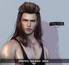 Jasper Hair@ Access (✪Tabou✪Volthair owɴer) Tags: sl access hair volthair mesh event new men unisex