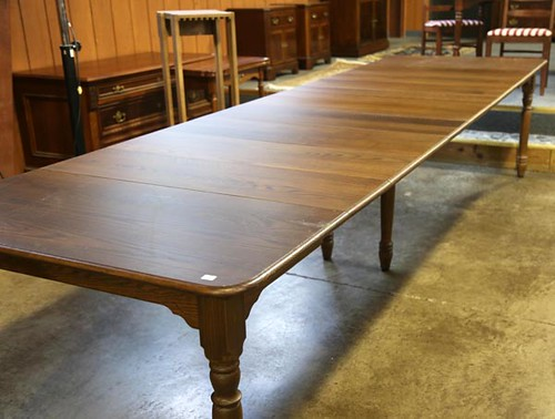AMISH made (John Fisher) walnut dining room table with 14 leaves (seats 20 people) ($924.00)