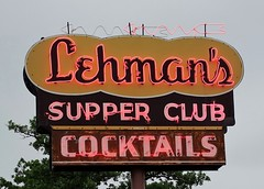WI, Rice Lake-U.S. 53(Old) Lehman's Supper Club Neon Sign