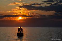 Buoy silhouette at sunset (BraCom (Bram)) Tags: thoad bracom bramvanbroekhoven goereeoverflakkee haringvliet holland middelharnis nederland netherlands southholland zuidholland avond boei buoy cloud clouds evening lake lucht meer reflection reflections silhouet silhouette sky spiegeling sunset water wolk wolken zonsondergang
