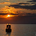 Buoy silhouette at sunset