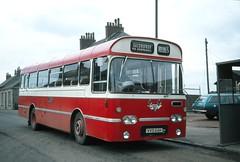 J . Irvine . Salsburgh , Scotland . VVD64H . Salsburgh Garage , Scotland . Friday 24th-March-1978 . (AndrewHA's) Tags: salsburgh scotland bus irvine aec reliance plaxton derwent vvd64h