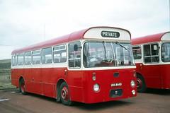 J . Irvine . Salsburgh , Scotland . HVA866D . Salsburgh Garage , Scotland . Friday 24th-March-1978 . (AndrewHA's) Tags: salsburgh scotland bus irvine aec reliance marshall camagna hva866d