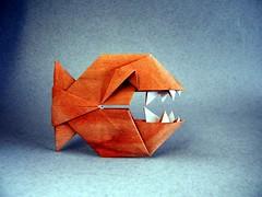 Baby Piranha - Mondher Saada (Rui.Roda) Tags: origami papiroflexia papierfalten fish pez peixe poisson baby piranha mondher saada