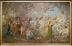 The Blossoms of Spring (~1887–98, Louis Comfort Tiffany) (Whidbey LVR) Tags: lyle rains lylerains olympus em5ii florida orlando winter park charles hosmer morse museum art painting tiffany