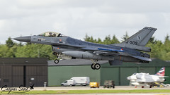 RNLAF F-16AM Fighting Falcon (Caspar Smit) Tags: j509 rnlaf f16 falcon viper fightingfalcon wittmund etnt aircraft fighter jet aviation airplane nikon d7000