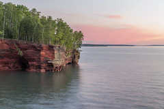 Lake Superior's South Shore (Sam Wagner Photography) Tags: lake superior south shore wisconsin pink sunset beautiful sea caves sandstone thebowl landscape golden midwest america usa great lakes
