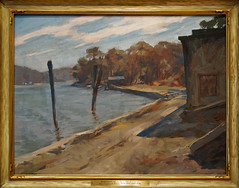 View of West Medford (Boathouse) (~1922, Alan Dunn) (Whidbey LVR) Tags: lyle rains lylerains olympus em5ii florida orlando winter park charles hosmer morse museum art painting