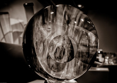 Circles Monochrome - Imagine Glass Museum (W Scott - Evicted from G+) Tags: stpete theimaginemuseum artglass glass sculpture bwproject2019 bwproject201914of26