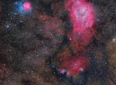 SAGITARIUS TRIPLET Messier 8 Messier 20 (maicongerminiani) Tags: deepsky astrophotography explorer ngc nationalgeographic dso nebula messier8 messier20