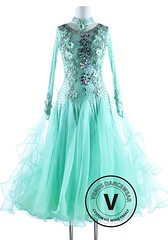Caribbean Solid Flower International Waltz Ballroom Competition Dance Dress (Venus Dancewear) Tags: ballroomdress ballroomdancedress latindress dancewear ballroom competition dress venus dresses dance quickstep foxtrot waltz