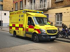 Mercedes Sprinter/Wilker. Dublin Fire Brigade (barronr) Tags: emergency emergencymedicalservices ems 911 112 999 bluestwos oncall dublinfirebrigade eire ireland dublin ambulance
