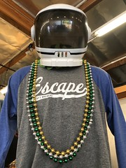 Hip the A'naut (ToGa Wanderings) Tags: daze space looking century 21st ancient alien beer craft california redlands pub brew brewery escape mardigras necklace beads helmet astronaut