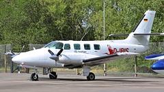 D-IRIS Cessna T303 Crusader (BIKEPILOT, Thx for + 5,000,000 views) Tags: diris cessna t303 crusader scarletibis bird aircraft aeroplane aviation flying flight airport airfield aerodrome twin blackbushe eglk camberley surrey uk england britain