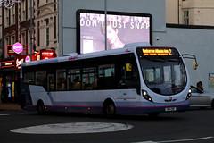 SN14 EBF, Commercial Road, Portsmouth, November 28th 2016 (Southsea_Matt) Tags: sn14ebf 63192 route2 first hantsdorset wright streetlite commercialroad portsmouth hampshire unitedkingdom england canon 80d november 2016 autumn bus omnibus vehicle transport