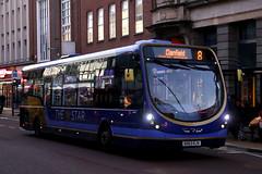 SK63 KJV, Commercial Road, Portsmouth, November 28th 2016 (Southsea_Matt) Tags: sk63kjv 63056 route8 first hantsdorset thestar wright streetlite commercialroad portsmouth hampshire unitedkingdom england canon 80d november 2016 autumn bus omnibus vehicle transport