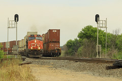 Q Meet (Acronym Railroad) Tags: cn 2284 canadian national es44dc ge general electric gevo amherst wisconsin