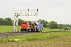 2x1 (Acronym Railroad) Tags: cn 9455 canadian national emd lomira wisconsin gp402lw